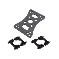 3K Carbon Fiber Motor Mount Set Holder Clamp
