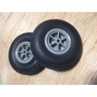 Pair of rubber landing gear for rc plane